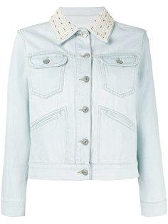 джинсовая куртка с декорированным воротником Isabel Marant Étoile