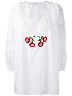 блузка с вышитым цветочным узором Vivetta