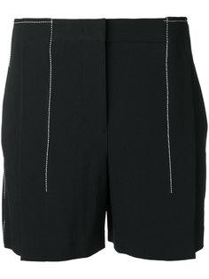 шорты с контрастной строчкой DKNY
