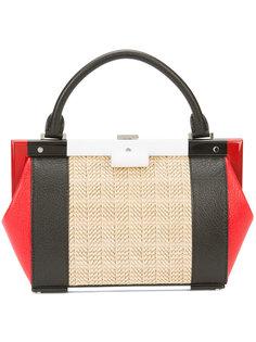 сумка-тоут с соломенной вставкой Perrin Paris