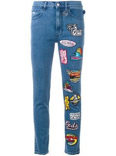 укороченные джинсы с нашивкой Gcds