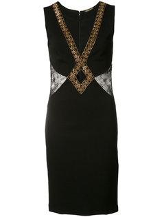 платье-мини с вышивкой Roberto Cavalli