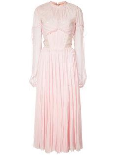 chiffon pleated dress J. Mendel