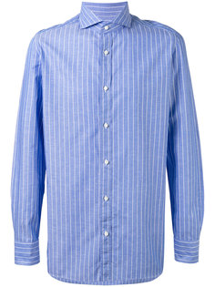 club collar striped shirt Borrelli