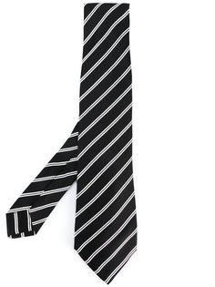 галстук с диагональными полосками Kiton