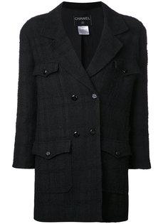 клетчатый пиджак с рукавами 3/4  Chanel Vintage