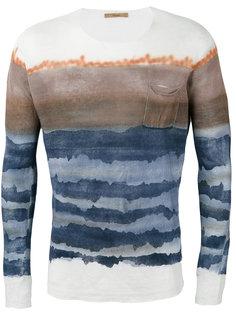 blurry stripes slim-fit jumper Roberto Collina