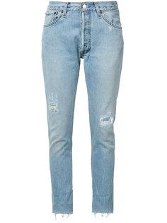 укороченные джинсы с потертой отделкой Re/Done