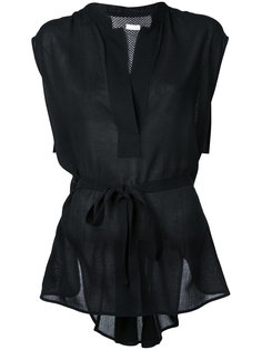 блузка с воротником-стойкой  Rito