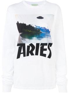 топ с графическим принтом Aries