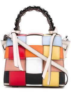 woven texture satchel bag Elena Ghisellini