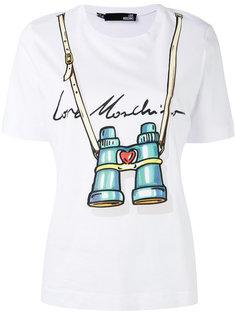 футболка с принтом бинокля  Love Moschino