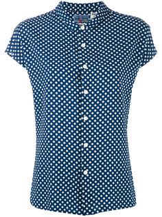 polka dot shirt Blue Blue Japan