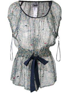 прозрачная блузка с цветочным принтом Twin-Set