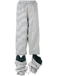 брюки с рваной отделкой Y / Project