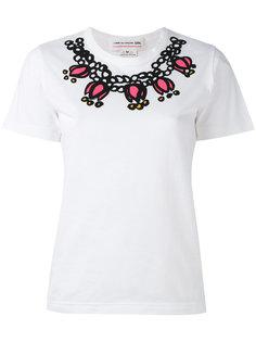 футболка с принтом колье Comme Des Garçons Girl