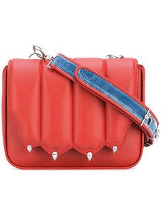 сумка через плечо с фигурным верхом Marco De Vincenzo