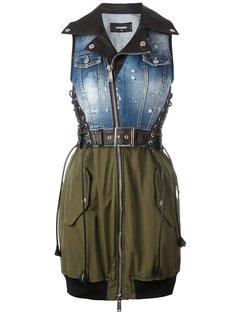 платье с джинсовым топом Dsquared2