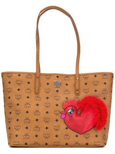 большая сумка-тоут с логотипом  MCM