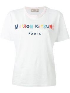 lettering logo print T-shirt Maison Kitsuné
