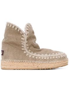 ботинки на плетеной подошве Mou