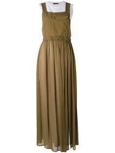 многослойное платье с эластичным поясом Twin-Set