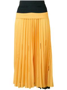 плиссированная юбка с присборенным поясом Marco De Vincenzo