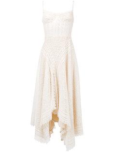 вязаное кружевное платье без рукавов Alexander McQueen