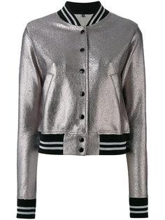 куртка-бомбер на пуговицах  R13