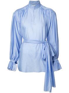 присборенная блуза с высоким воротом Vika Gazinskaya