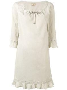 платье шифт с люверсами Fay