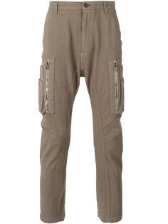 зауженные брюки с карманами карго  Helmut Lang
