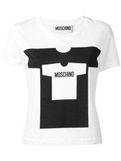 футболка с принтом с логотипом Moschino
