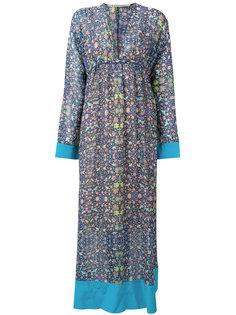 длинное платье с цветочным узором Miahatami