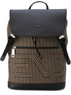 полосатый рюкзак с логотипом Fendi