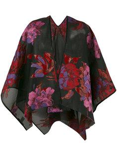 пальто свободного кроя с цветочной отделкой Ermanno Gallamini