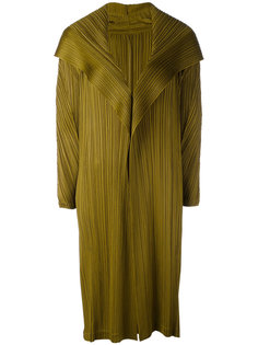 длинное плиссированное пальто Pleats Please By Issey Miyake