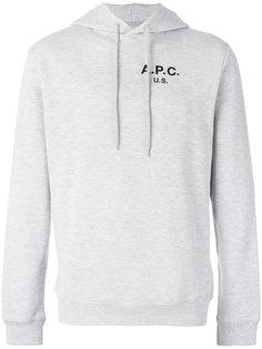 толстовка с капюшоном и логотипом на груди A.P.C.
