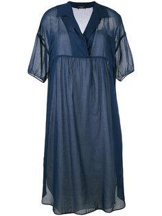 платье шифт с лацканами  Odeeh
