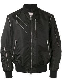 куртка-бомбер на молнии Moncler