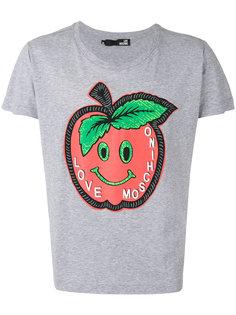 футболка с принтом яблока Love Moschino