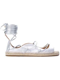 сандалии на плоской подошве с ремешками Dsquared2