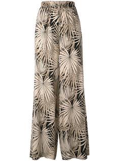 брюки с цветочным узором Max Mara Studio