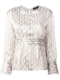 блузка с геометрическим узором Isabel Marant