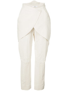 layered crop trousers Aganovich
