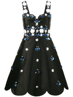 коктейльное платье с цветами из пайеток Huishan Zhang