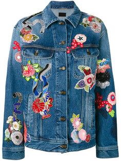 джинсовая куртка с заплатками Saint Laurent