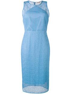 кружевное приталенное платье миди  Diane Von Furstenberg