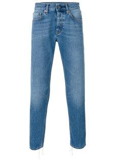 выбеленные джинсы слим  Pence