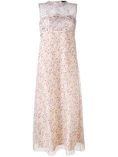 платье с цветочным узором Calvin Klein Collection